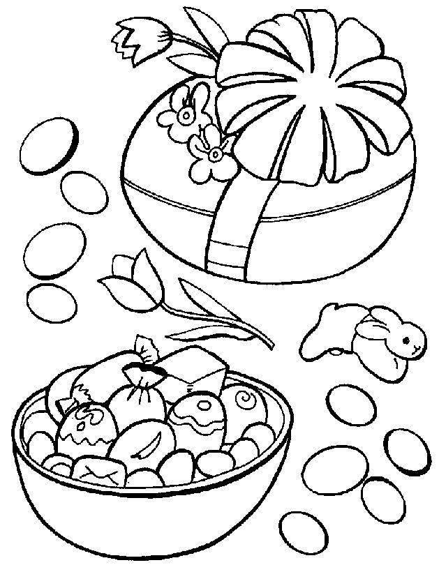 Planse De Colorat Pentru Paste Oua De Paste