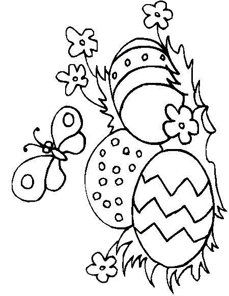Planse De Colorat Pentru Copii Oua De Paste